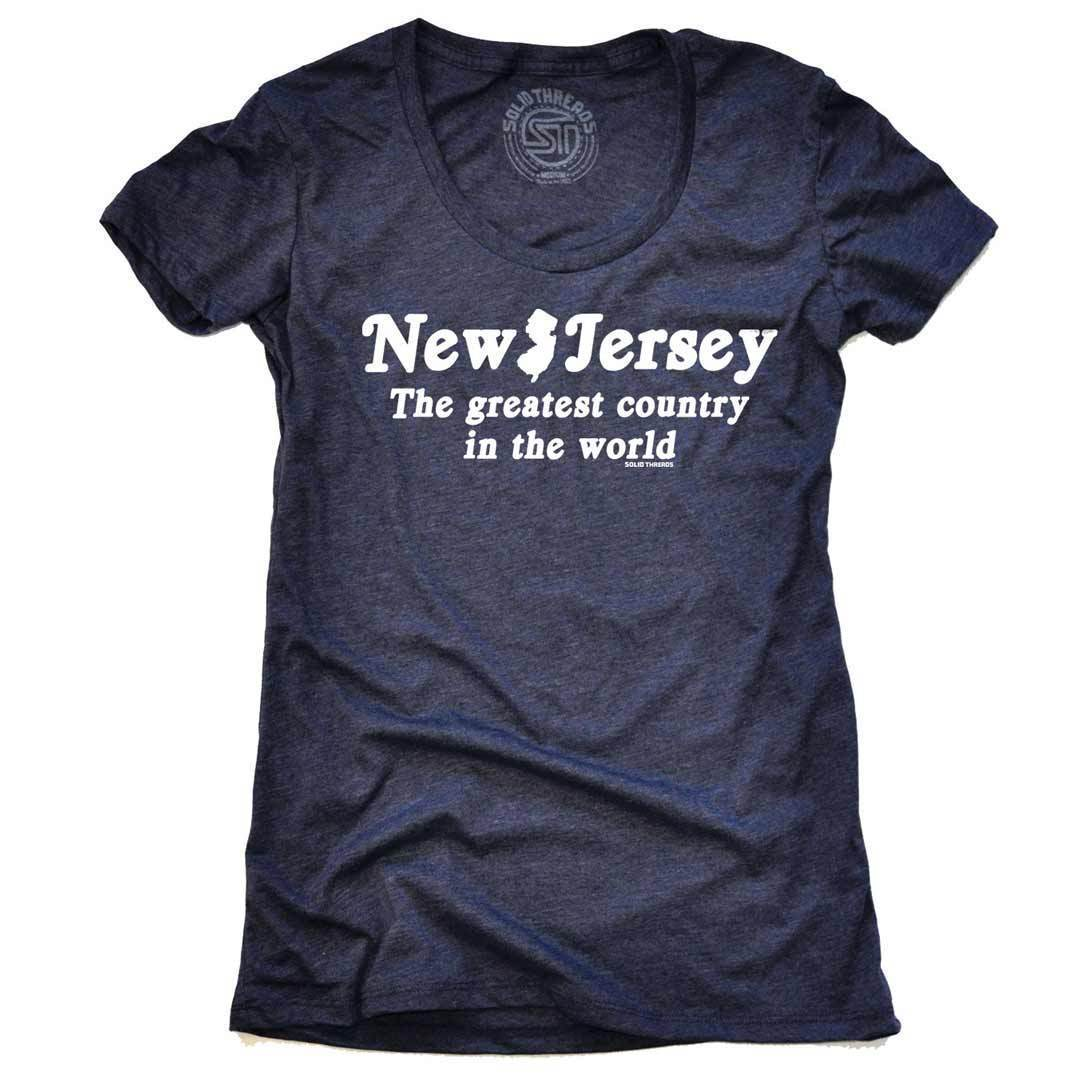 Women's New Jersey The Greatest Country In The World Vintage Kelly T-shirt | SOLID THREADS