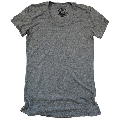 Women's Solid Threads Triblend Olive T-shirt