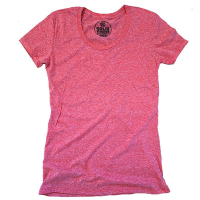 Women's Solid Threads Triblend Red T-shirt