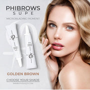 PhiBrows™ Microblading Pigments SUPE Golden Brown - PhiBrows™ Microblading Shop USA
