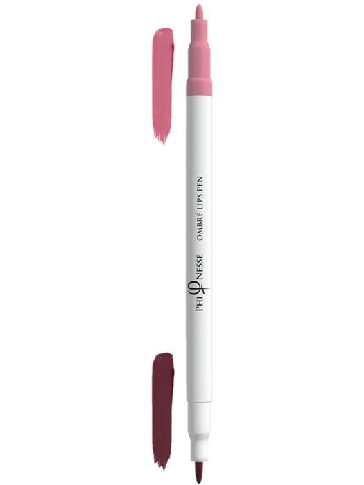 PhiNesse Ombre Lips Pen - Red Plum-Soft Pink 02