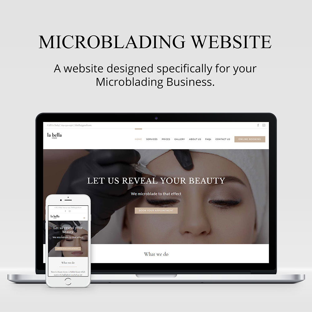 Professional Website for Microblading Artists & PMU Industry