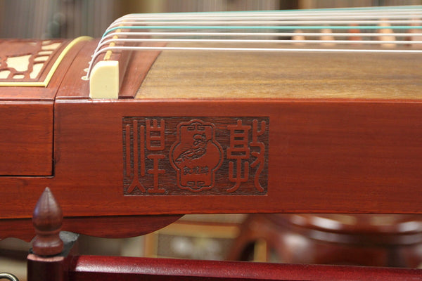 "Dunhuang 696D African Padauk Guzheng ""Duo Crane Facing the Sun"""