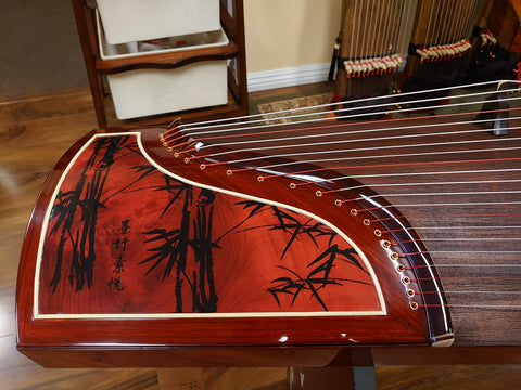"Scarlet Bird Zhuque Custom-made ""Ink Bamboo"" Guzheng"
