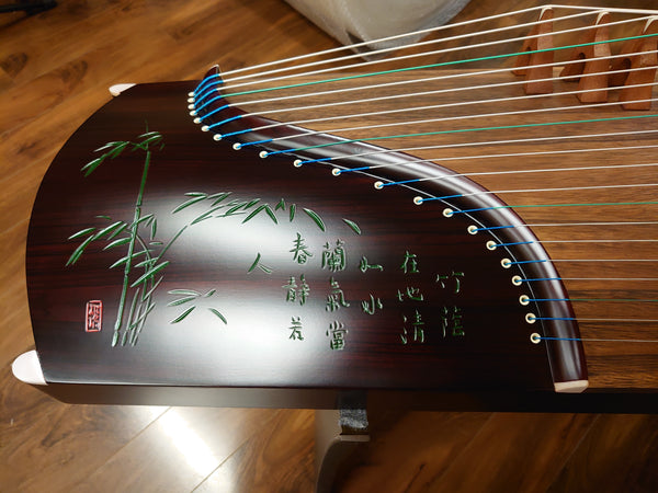 "53"" Sound of China Rosewood Guzheng ""Bamboo & Orchid"""