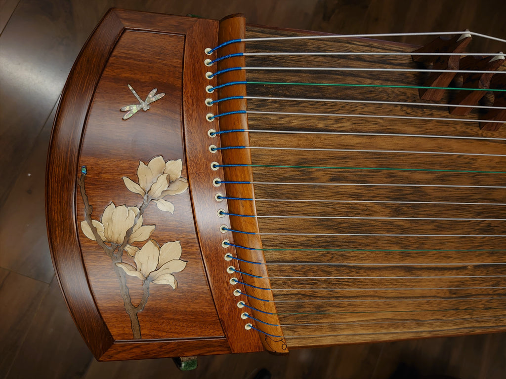 "49"" Sound of China Rosewood  Guzheng ""Magnolia & Dragonfly"""
