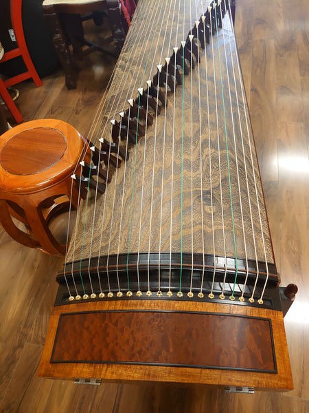 "Zheng Art-Mitsuya Koto Collection Guzheng (Made in Japan) ""Jade Golden Flower"" 炫光筝"