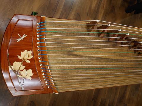 "49"" Sound of China Laminated Rosewood  Guzheng ""Blossoms"""