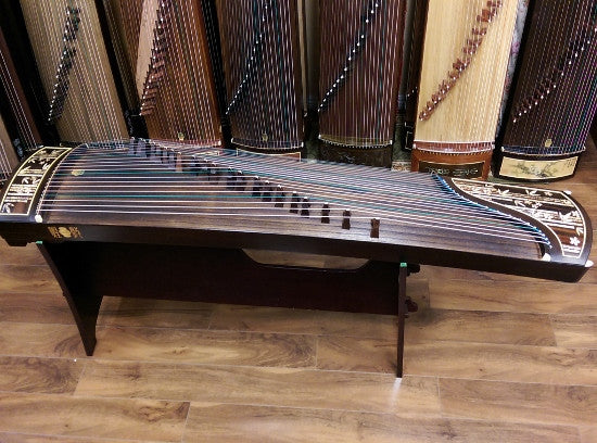 "Dunhuang Indonesian Rosewood 5695LCC Guzheng ""Fresh Breeze from the Bamboo Melody"""