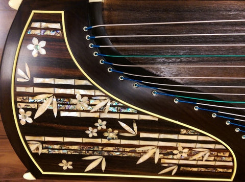"Dunhuang Thailand Rosewood 5695LCC Guzheng ""Fresh Breeze from the Bamboo Melody"""