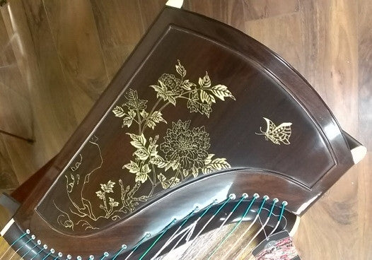 Dunhuang Yun Indian Rosewood 898T Guzheng with Bone Powder Inlay