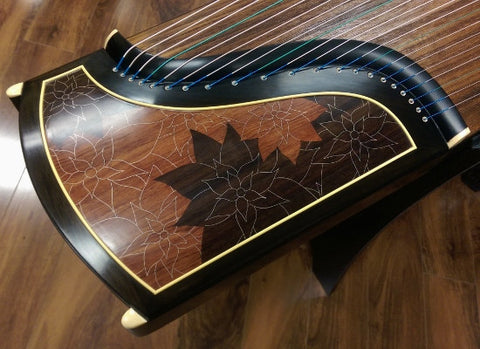 "Dunhuang Thailand Rosewood 695JO Guzheng ""Floating Flowers Long for Reflection"""