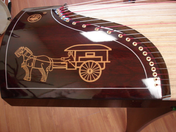 Scarlet Bird Mahogany Guzheng Model #520