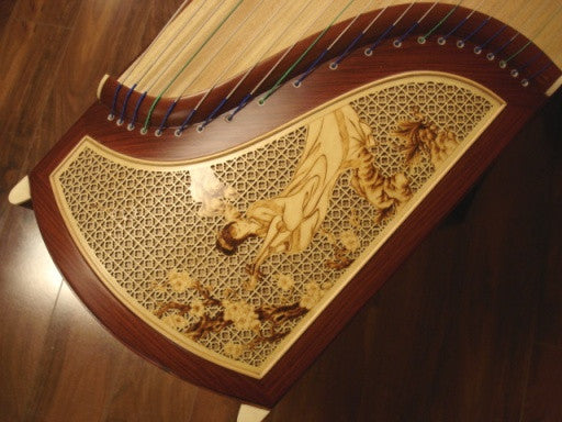 "Tianyi Custom-made Burmese  Rosewood with Wood Carving ""Lady Zhaojun"""