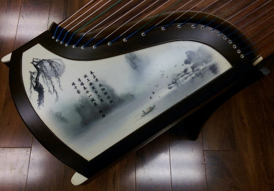 "Sound of China Blackwood Guzheng with Chinse Brush Painting ""Spring Breeze"""