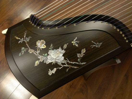 "Sound of China Blackwood Guzheng with Mica Inlay ""China Rosa"""