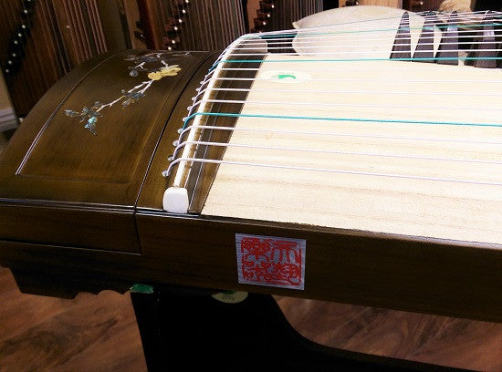 "Tianyi Nanmu Guzheng with Mica Inlay ""Jasmine Frgrance"""