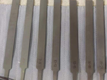 Guzheng Bridge Saddle Nut Files Set