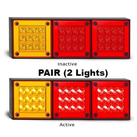 2 x LED Autolamps 280ARRM 12-24 Volt Stop / Tail and Indicator Combination Lamp