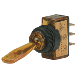 60050BL Narva Illuminated Off / On Plastic Toggle Switch Amber Pack of 5