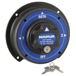 61094 Narva Battery Master Switch - Rotary Style with 4 Positions