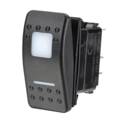 63164BL Narva 12 / 24V Off / Momentary On L.E.D Illuminated Sealed Rocker Switch