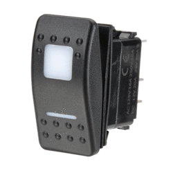 63170BL Narva 12 / 24V Off / On / On L.E.D Illuminated Sealed Rocker Switch - Re
