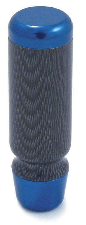 Shift Knob - Blue Aluminium & Carbon Fibre Manual Cars