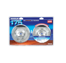 71640 Narva 12 Volt 100W Ultima 175 Broad Beam Driving Lamp Kit 175mm Diameter