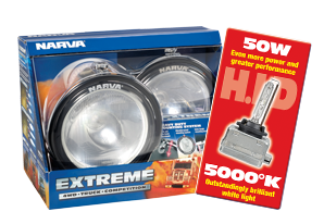71762HID Narva 12 Volt 50W Extreme H.I.D Combination Beam Driving Lamp Kit Black