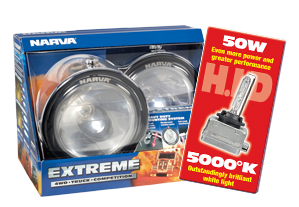 71768HID-24 Narva 24 Volt 50W Extreme H.I.D Combination Beam Driving Lamp Kit Ch