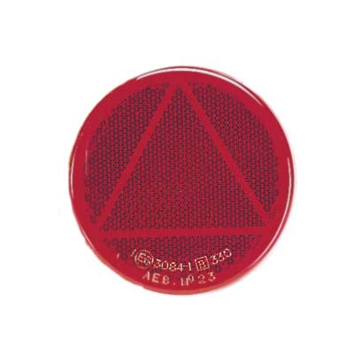 84007BL Narva Red Retro Reflector 65mm Diameter with Self Adhesive
