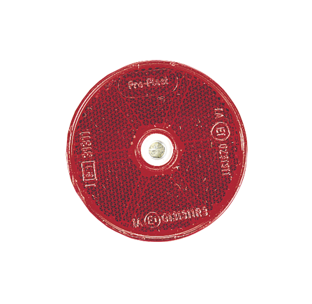 84012BL Narva Red Retro Reflector 60mm Diameter with Central Fixing Hole
