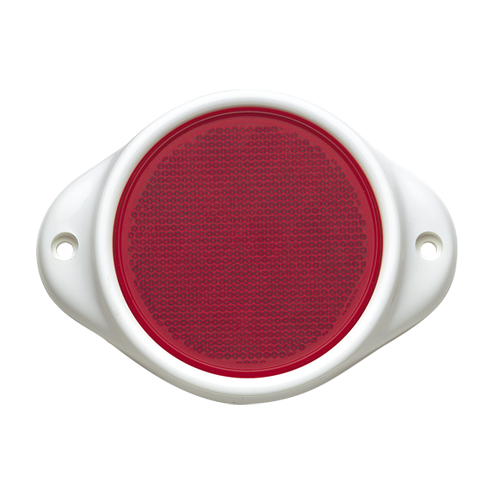 84082BL Narva Red Retro Reflector 80mm Diameter in Plastic Holder with