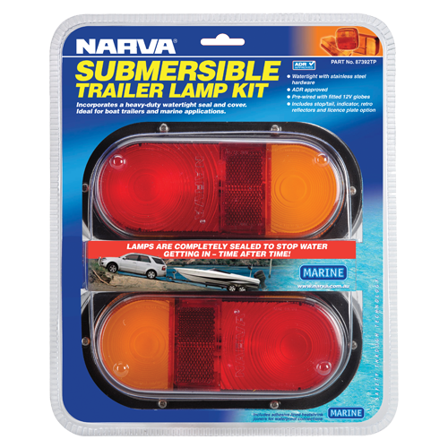 87392TP Narva 12 Volt Submersible Rear Combination Lamp Pack