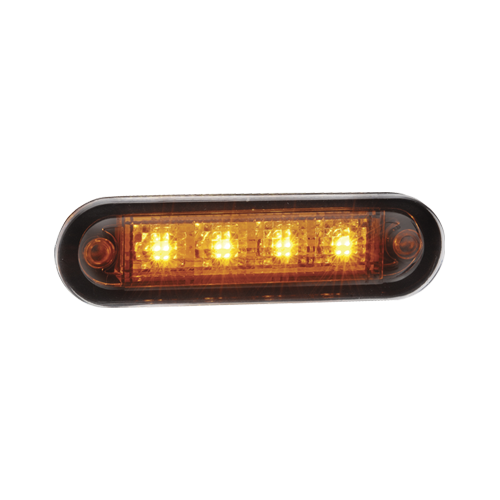 90824BL Narva 10-30 Volt L.E.D Front End Amber Lamp with Stainless Steel Cover a