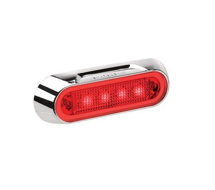 90832CBL Narva 10-30 Volt L.E.D Rear End Outline Marker Lamp (Red) with Chrome D