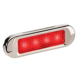 90834BL Narva 10-30 Volt L.E.D Rear End Outline Marker Lamp (Red) with Stainless