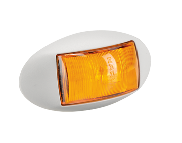 91424W Narva 10-33 Volt L.E.D Side Marker Front End Amber Lamp with White Deflec