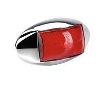 91434CBL Narva 10-33 Volt L.E.D Rear End Outline Marker Lamp (Red) with Oval Chr
