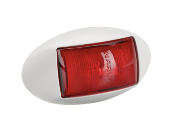 91434W Narva 10-33 Volt L.E.D Rear End Outline Marker Lamp (Red) with Oval White