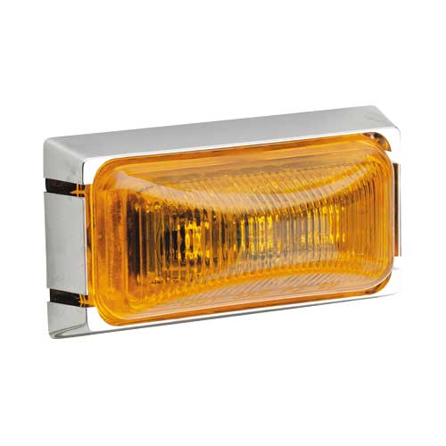 91558 Narva 12 Volt L.E.D External Cabin Lamp (Amber) with Chrome Mounting Base