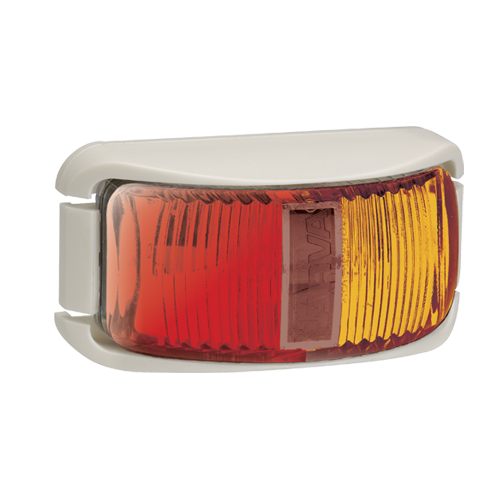91602W Narva 9-33 Volt L.E.D Side Marker Lamp (Red/Amber) with White Base and 0.