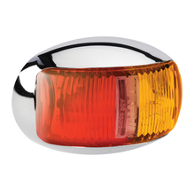 91605C Narva 9-33 Volt L.E.D Side Marker Lamp (Red/Amber) with Oval Chrome Defle