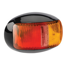 91606 Narva 9-33 Volt L.E.D Side Marker Lamp (Red/Amber) with Oval Black Deflect