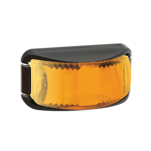 91623 Narva 9-33 Volt L.E.D Front End Outline Marker Lamp (Amber) with Black Def