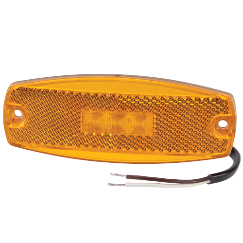 91700 Narva 9-33 Volt L.E.D Side Marker Amber Lamp with In-built Retro Reflector