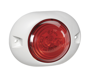 93138W Narva 9-33 Volt L.E.D Rear End Outline Marker Lamp (Red) with White Defle