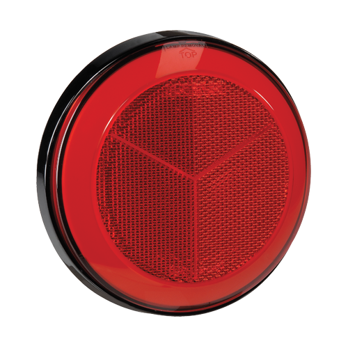 94304 Narva Red Retro Reflector with 130mm Black Base
