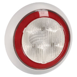 94342W Narva 9-33 Volt L.E.D Reverse Lamp (White) with Red L.E.D Tail Ring, 0.5m